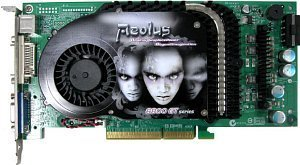 AOpen Aeolus 6800GT-DV256, GeForce 6800 GT, 256MB DDR3, DVI, TV-out, AGP (91.05210.401)