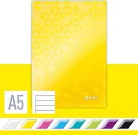 Leitz WOW Notizbuch gelb A5 liniert, 80 Blatt (46271016)