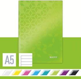 Leitz WOW Notizbuch grün A5 liniert, 80 Blatt (46271054)