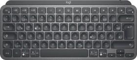 Logitech MX Keys Mini Graphite, schwarz, LEDs weiß, USB/Bluetooth, DE (920-010479)