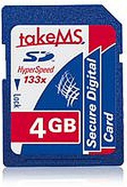 takeMS SD Card 133x 4GB (MS4096SDC-SD4R)