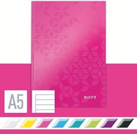 Leitz WOW Notizbuch pink A5 liniert, 80 Blatt (46271023)