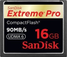 SanDisk R90/W90 CompactFlash Card [CF] Extreme PRO 16GB (SDCFXP-016G-E91)