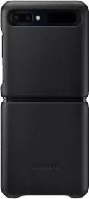 Samsung Leather Cover für Galaxy Z Flip schwarz (EF-VF700LBEGEU)