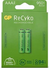 GP Batteries ReCyko Micro AAA NiMH 950mAh, 2-pack (120100AAAHCE-C2)