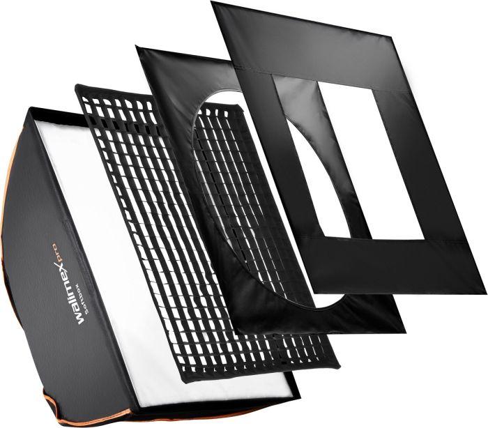 Walimex Pro Softbox Orange Line Plus 90x90cm für Multiblitz P (19230)