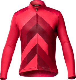 Mavic Cosmic Graphic Trikot langarm haute red (Herren)