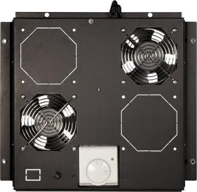 """LogiLink Canovate 19"""" roof fan tray black, fan module, 2 fan (FAS121B)"""