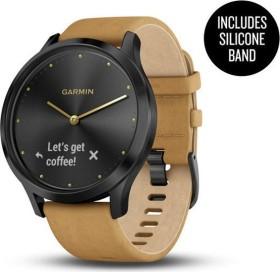 Garmin vivomove HR Premium activity tracker onyx-black/light brown (010-01850-00)