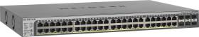Netgear ProSAFE GS700 Rackmount Gigabit Smart Stack Switch, 46x RJ-45, 2x RJ-45/SFP, 2x SFP, PoE+ (GS752TPSB-100)