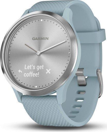 Garmin vivomove HR Aktivitäts-Tracker silber/blaugrün (010-01850-08)