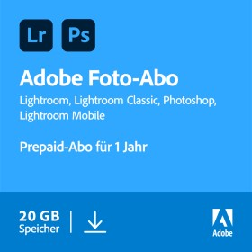 Adobe Creative Cloud 20GB inklusive Photoshop und Lightroom, 1 Jahr Abo, 1 User, ESD (multilingual) (PC/MAC) (65303869)
