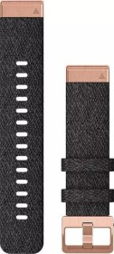 Garmin Ersatzarmband QuickFit 20 Nylon schwarz/rosegold (010-12874-00)