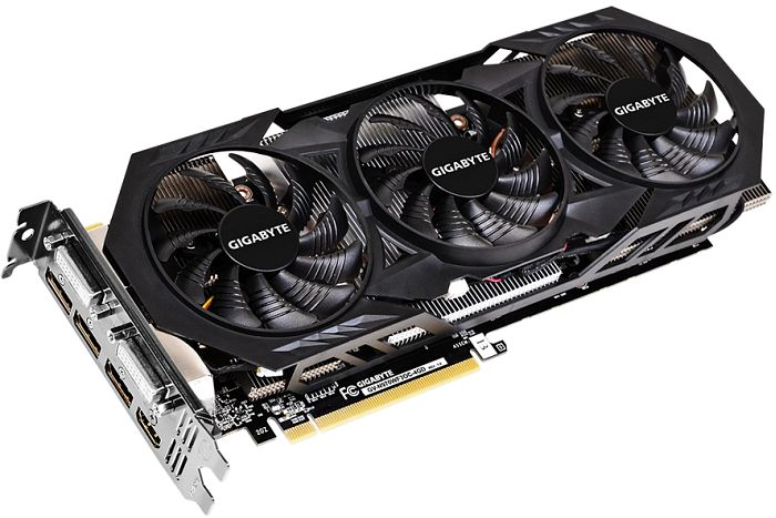 Gigabyte GeForce GTX 970 WindForce 3X OC, 4GB GDDR5, 2x DVI, HDMI, 3x DisplayPort (GV-N970WF3OC-4GD)