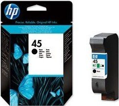 HP Printhead with ink Nr 45 black 21ml (51645GE)
