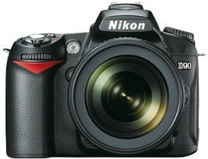 Nikon D90 black with lens AF-S VR DX 18-55mm 3.5-5.6G (VBA230KG01)
