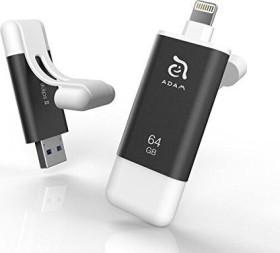 ADAM elements iKlips II 64GB grau, USB-A 3.0/Lightning (ADRAD64GKLPIIGY)