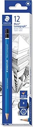 Staedtler Mars Lumograph 100 B graphit, 12er-Pack (100-B) -- via Amazon Partnerprogramm