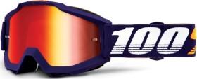 100% Accuri Goggle grib/mirror red lens (50210-284-02)