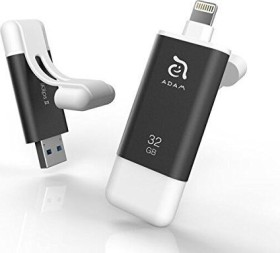 ADAM elements iKlips II 32GB grau, USB-A 3.0/Lightning (ADRAD32GKLPIIGY)
