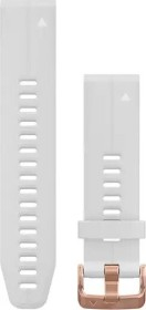 Garmin Ersatzarmband QuickFit 20 Silikon weiß/rosegold (010-12739-08)