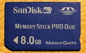 SanDisk Memory Stick [MS] Pro Duo 8GB (SDMSPD-8192-E10)