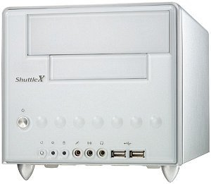 Shuttle XPC ST62K mini-Barebone aluminium [Socket 478/200/3.2GHz/dual PC3200 DDR]