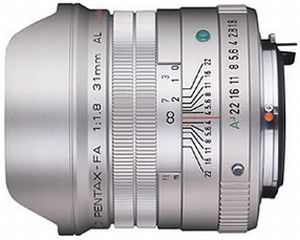 Pentax lens smc FA 31mm 1.8 AL Limited (20280/20290)
