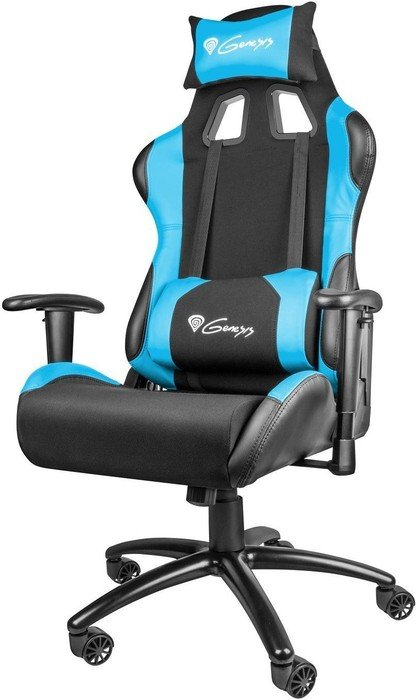 Genesis Nitro 550 gaming chair, black/blue (NFG-0783)