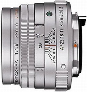 Pentax lens smc FA 77mm 1.8 Limited (27970/27980)