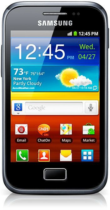 Samsung Galaxy Ace Plus S7500 with branding