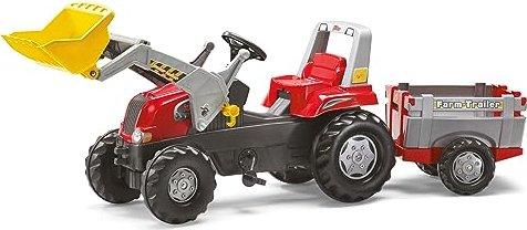 Rolly toys rollyjunior rt trettraktor mit frontlader und anhänger