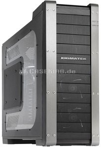 Xigmatek Elysium black/silver with side panel window (CCC-HSAODS-U02) -- (c) caseking.de