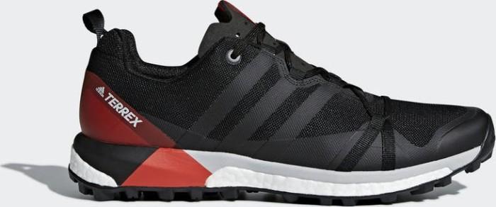 meet 24fc5 ae550 adidas Terrex Agravic core black carbon hi-res red (men) (