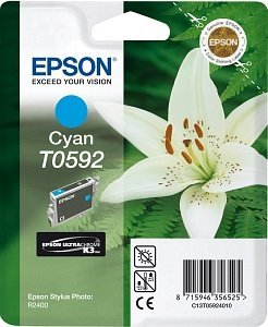 Epson T0592 Tinte cyan (C13T05924010)