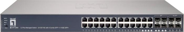 Level One GTP Rackmount Gigabit Managed Switch, 20x RJ-45, 4x RJ-45/SFP, 4x SFP+, 185W PoE+ (GTP-2880/570806)