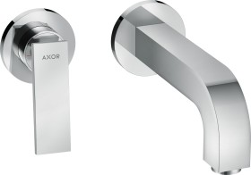 Hansgrohe AXOR Citterio 2 holes bathroom sink tap with lever handles and rosettes 220mm chrome (39121000)