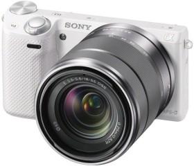 Sony Alpha NEX-5R weiß mit Objektiv AF E 18-55mm 3.5-5.6 OSS (NEX-5RKW)
