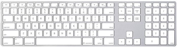 Apple Keyboard mit Ziffernblock, Rev. A, USB, DE (MB110D/A)