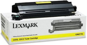 Lexmark Toner 12N0770 gelb