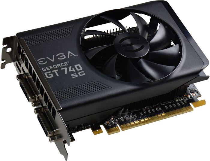 EVGA GeForce GT 740 SuperClocked, 4GB GDDR5, 2x DVI, Mini HDMI (04G-P4-3748-KR)