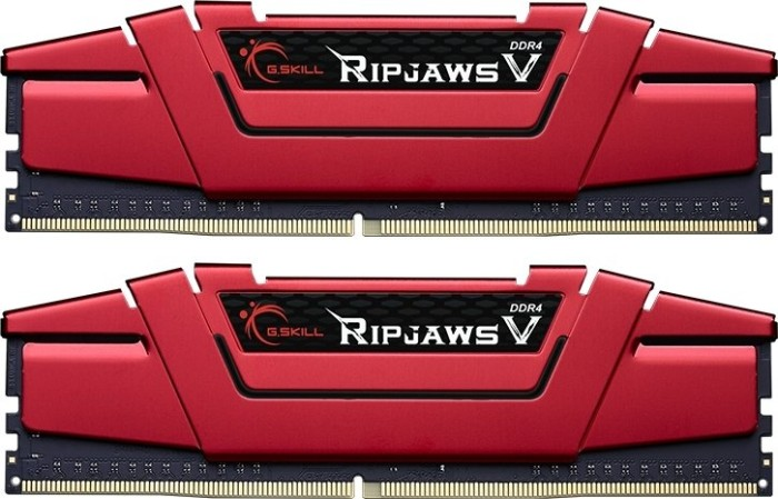 G.Skill RipJaws V rot DIMM Kit 32GB, DDR4-3200, CL14-14-14-34 (F4-3200C14D-32GVR)