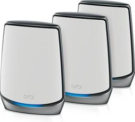Netgear Orbi Wi-Fi 6 AX6000 RBK853 Router and 2x satellite set, 3er-Bundle (RBK853-100EUS/RBK853-100UKS)