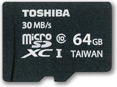 Toshiba High Speed Professional R30 microSDXC 64GB Kit, UHS-I, Class 10 (SD-C064UHS1)