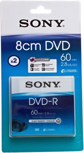 Sony mini DVD-R 2.8GB, 2-pack, 8cm (DMR60) starting from £ 9.04 ... cba25731985c
