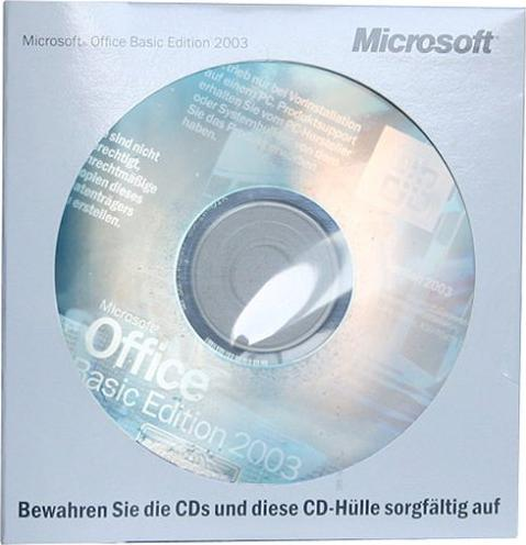 Microsoft: Office 2003 Basic Edition OSB/OEM, 1-pack (German) (PC) (S55-00368) -- (c) DCI AG