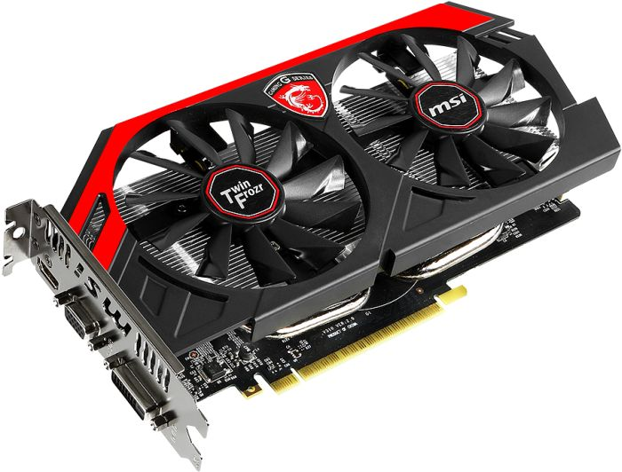 MSI GeForce GTX 750 Ti Gaming, N750 Ti TF 2GD5/OC, GeForce GTX 750 Ti, 2GB GDDR5, VGA, DVI, HDMI (V310-003R)