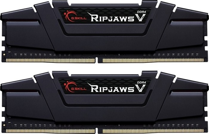 G.Skill RipJaws V black DIMM kit 32GB, DDR4-3200, CL14-14-14-34 (F4-3200C14D-32GVK)