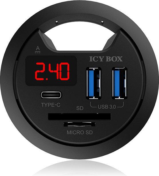 RaidSonic Icy Box IB-Hub1404 stół-Hub, USB 3.0 hub ...