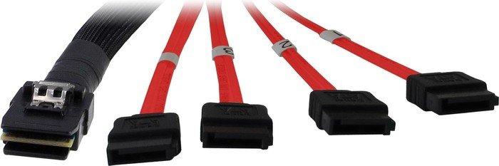 Inter-Tech mini SAS x4 [SFF-8087] auf 4x SATA Kabel, 1m (88885301)
